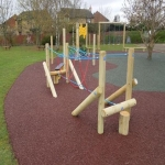Bonded Rubber Bark for Play Areas in Carmarthenshire 4