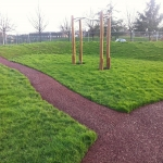 Bonded Rubber Bark for Play Areas in Carmarthenshire 1