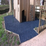 Bonded Rubber Bark for Play Areas in Carmarthenshire 8