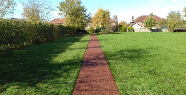 Schools Daily Mile Rubber Mulch in Buckinghamshire