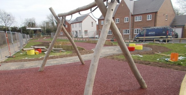 Rubber Mulch Playground Depth in North Lanarkshire