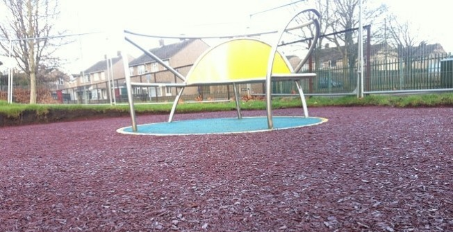 Bonded Mulch Safety Surfacing Depths in North Lanarkshire